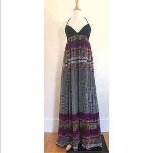 $298 Mara Hoffman PRINTED Gown Maxi Dress Small S